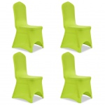 vidaXL Stretch Stuhlbezug 4 Stück Grün