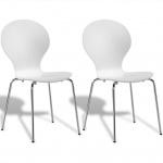 2 stapelbare Esszimmerstühle Schmetterlings-Design weiß