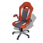 Bürosessel Bürostuhl Drehstuhl Chefsessel Kunstleder Office Orange