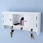 vidaXL Wandschrank für Schlüssel und Schmuck mit Türen und Haken