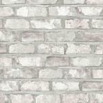 DUTCH WALLCOVERINGS Tapete Ziegel-Optik Weiß EW3104