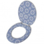 Toilettensitz WC-Sitz MDF Porzellan Design