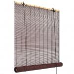 vidaXL Bambusrollo 140 x 160 cm Dunkelbraun