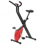 vidaXL Heimtrainer X-Bike Gurtwiderstand Rot