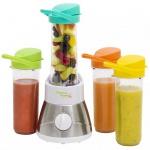 Bestron AFM400 Blender Smoothie Maker mit 4 tragbaren Trinkbechern
