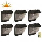 Luxform Solar LED Garten-Wandleuchten 6 Stk. Schwarz 30649