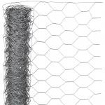 Nature Maschendraht-Hühnerzaun Grau 1 x 10 m 6050223