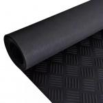 Gummi-Bodenmatte Antirutschmatte 5 x 1 m Riffelblechoptik