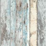DUTCH WALLCOVERINGS Tapete Holz-Optik Blau PE10012