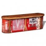 Truhe mit Sitzbank aus wiederverwendetem Holz