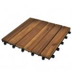 Terrassenfliesen vertikales Muster 30 x 30 cm Akazie 20er-Set