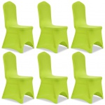 vidaXL Stretch Stuhlbezug 6 Stück Grün