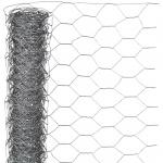 Nature Maschendraht-Hühnerzaun Grau 0, 5 x 5 m 6050216