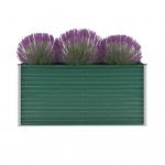 vidaXL Gartenpflanzen Verzinkter Stahl 160x40x77 cm Grün