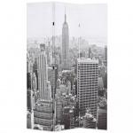 vidaXL Raumteiler klappbar 120 x 180 cm New York bei Tag Schwarz-Weiß