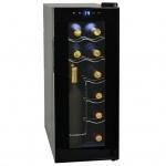 vidaXL Weinkühlschrank Bar-Kühlschrank 35 l 12 Flaschen LCD-Anzeige