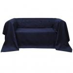 Micro-Suede Sofaüberwurf Tagesdecke Marineblau 210 x 280 cm
