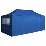 vidaXL Pop-Up Festzelt mit 4 Seitenteilen 3x6 m Blau