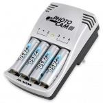 Ansmann Akku-Ladegerät PhotoCam III mit 4 Batterien 5007093