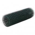 vidaXL Maschendraht Stahl mit PVC-Beschichtung 10×0, 5 m Quadrat Grün