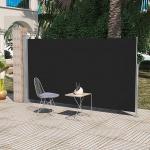 Terrassenmarkise Seitenmarkise 180 x 300 cm Schwarz
