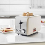 Bestron Toaster mit Brötchenwärmer ATS200RE0 850 W Weiß