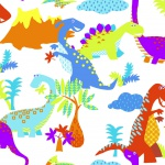 Kids at Home Tapete Dinosaur Mehrfarbig 100116
