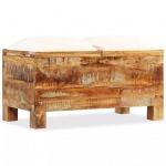 vidaXL Sitzbank mit Stauraum Massives Recyclingholz 80 x 40 x 40 cm