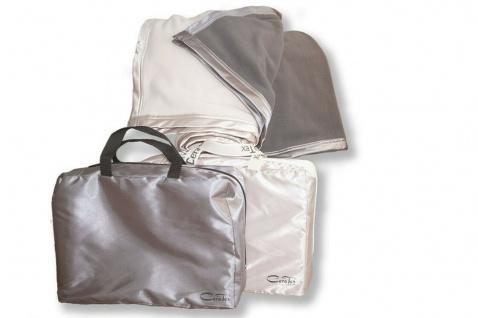 CeraTex weiche Fleece-Kuscheldecke beige. grau Keramikfaser Wärmewirkung