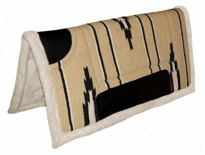 Westernpad leichtes Navajo Pad Kunstlederbesatz Unterseite syth. Fell Fellkranz