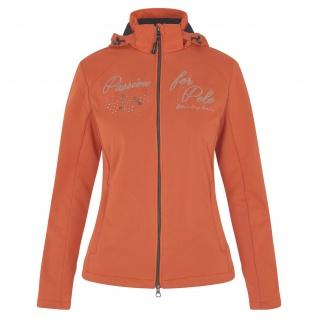 HV POLO Damen Jacke Ariane Softshell abnehmb. Kapuze Luxus-Grafik apricot