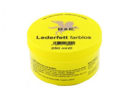 19.80 EUR/l B&E Lederfett farblos 250 ml pflegt nährt imprägniert Leder