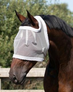 QHP Fliegenschutzmaske ohne Ohren Fliegenschutz Kopf grau diverse Größen