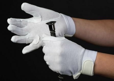 Harry's Horse Reithandschuhe Handschuhe Baumwolle weiss Antirutsch-Noppen
