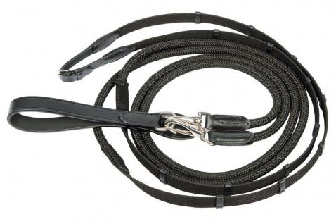 Harry's Horse Gurtschlaufzügel. 2 Karabinerhaken schwarz One Size