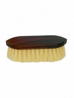 Mähnenbürste Waschbürste lang braun maseriert 190x50x16mm Borsten ca. 55 mm lang