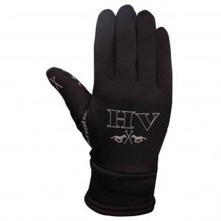 HV Polo Reithandschuhe Winter warm atmungsaktiv Innenhand Silikon Logo-Stickerei