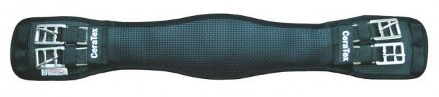 CeraTex anatomischer Sattel-Kurzgurt. Airprene - 100% Keramikfasern schwarz