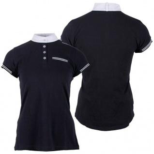 QHP Damen Turniershirt Dewi kurzarm Stehkragen Knopfverschluss Gr. 36