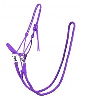 QHP Knotenhalfter mit Zügeln robustes 10 mm dickes Seil 6 Farben 4 Größen
