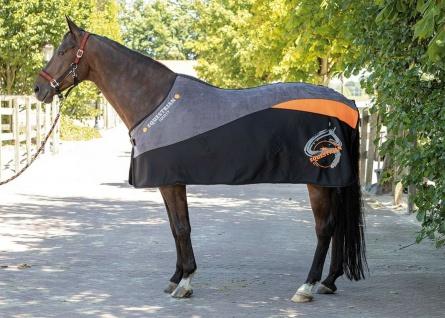 Harry's Horse Fleece Decke Equestrian Society Orange Kontrastdetails / Logo