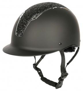 Harry's Horse Sicherheits-Reithelm Reitkappe Centaur schwarz-silb. CE VG1 01.040