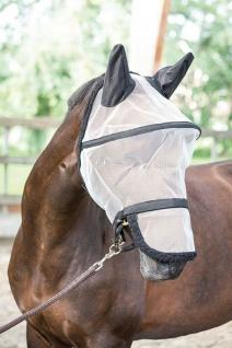 Harry's Horse Fliegenschutzmaske B-free Fliegenschutz Kopf weiß/schwarz 4 Größen