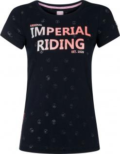Imperial Riding Damen T-Shirt Festival allover Peace Design Navy Gr. M