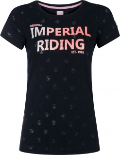 Imperial Riding Damen T-Shirt Festival allover Peace Design Navy