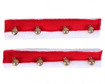 QHP Weihnachts-Set mit Glöckchen zum Anbringen am Zaumzeug oder Halfter