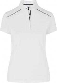 HV POLO Damen Turniershirt Isabeau white kurzarm ausgefallene Details