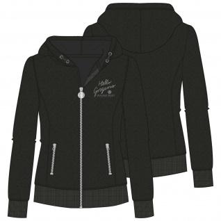 Imperial Riding Damen Luxus Kapuzen Fleece Jacke XOXO black
