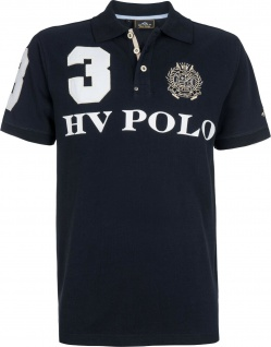 HV POLO Herren kurzarm Polo-Shirt Favouritas M.EQ SS Prints Stickereien