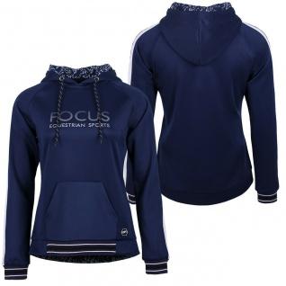 QHP Damen Sweater Hoodie Maia mit Kapuze 2 Farben silberner Print